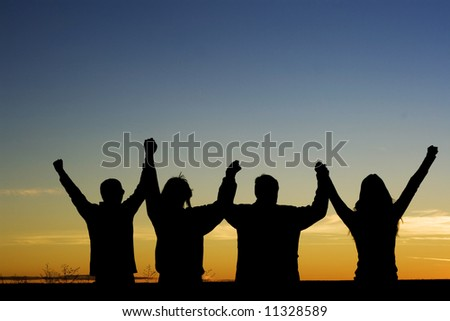 Unity and Achievement - stock photo