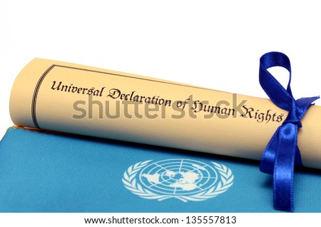 Universal Declaration of Human Rights - stock photo