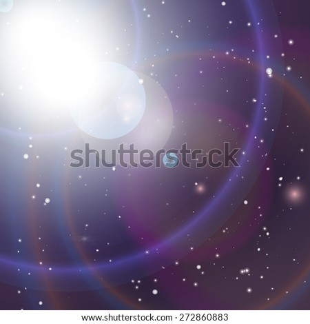 Universe background. illustration of space. - stock photo