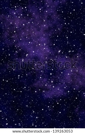 Universe background with stars and nebula - stock photo