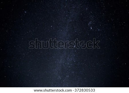 Universe filled star galaxy space sky night - stock photo