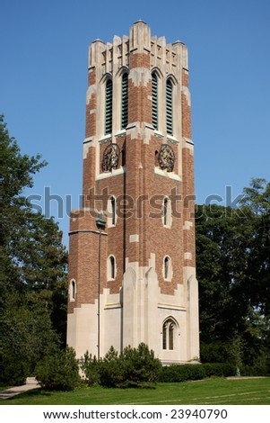 University Bell Tower - stock photo