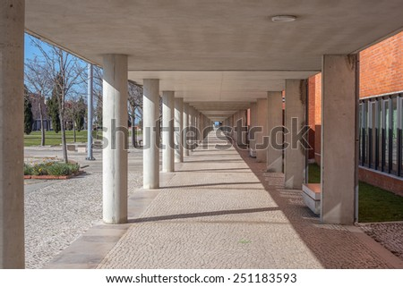 University campus tunel corridor  - stock photo