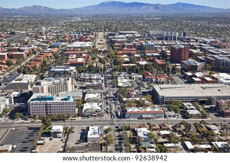 University of Arizona campus in Tucson - stock photo
