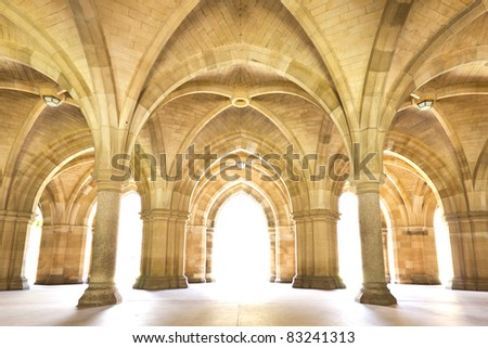 University of Glasgow Cloisters - stock photo