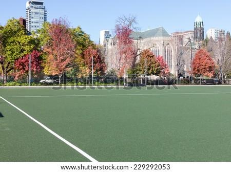 University Playing field - stock photo