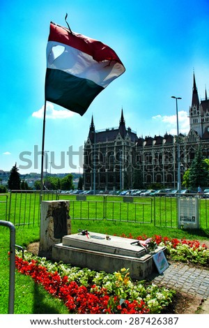 Unknown Soldier Monument in Budapest, Hungary, East Europe . - stock photo
