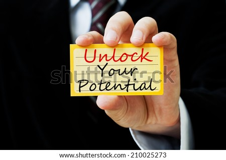 Unlock your potential - stock photo