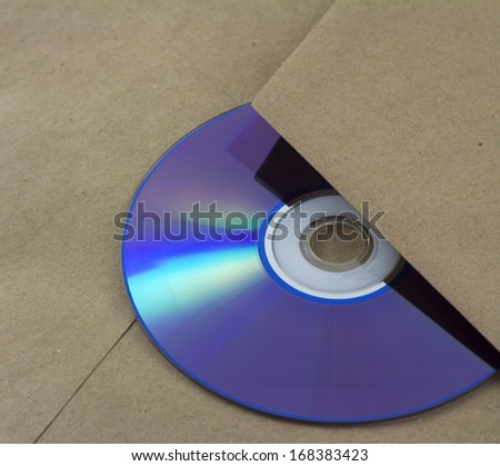 Unmarked envelope with a cd inside - stock photo