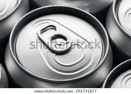 Unopened soda can - stock photo