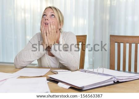 Unpaid bills - stock photo
