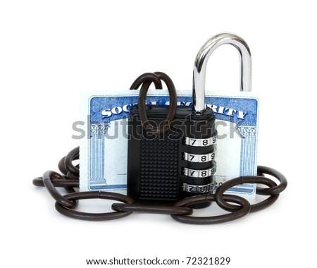 unprotected social security card - stock photo