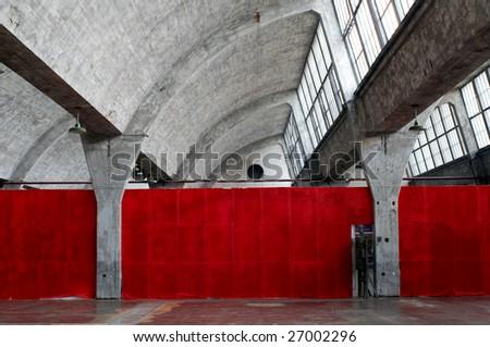 Unused workshop in 798 Artspace - stock photo