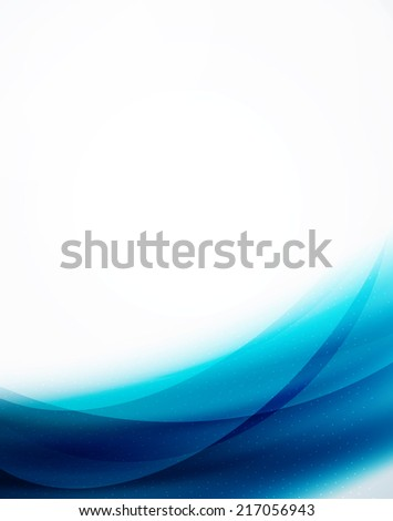 Unusual blur wave abstract background, modern shiny design - stock photo