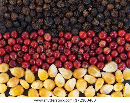 Unusual Germany flag made of food and condiments - stock photo