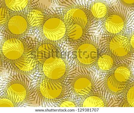 Unusual stylised modern abstract design with swirling suns superimposed on a plain white background and ideal for  elegant wallpapers. - stock photo