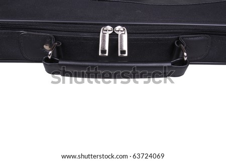 Unzipped metal zipper on a white background. Isolated - stock photo