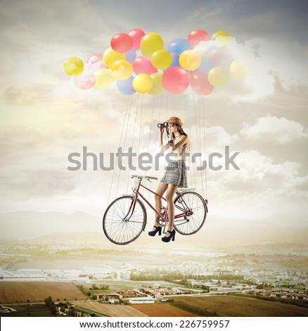 Up above  - stock photo