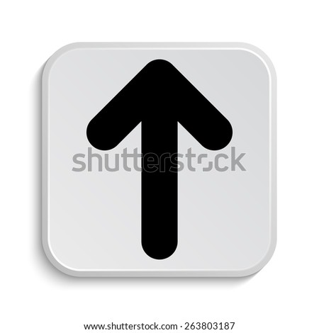 Up arrow icon. Internet button on white  background.