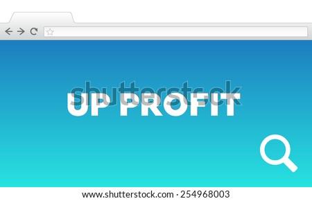 UP PROFIT - stock photo