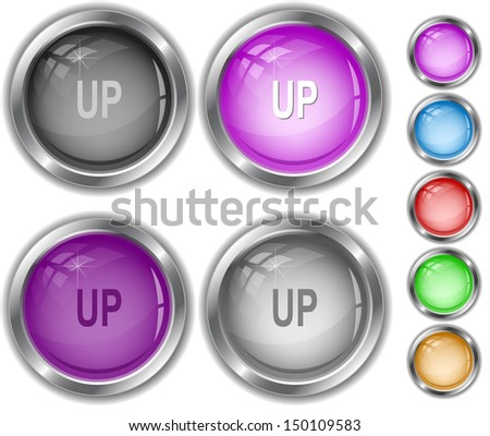 Up. Raster internet buttons. Vector version is in portfolio. - stock photo