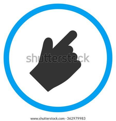 Up Right Index Finger Icon - stock photo