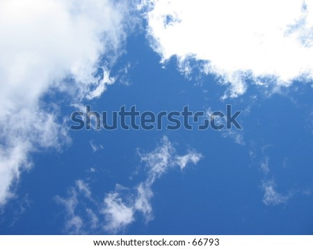 Up there in the blue, the sun always shines. - stock photo
