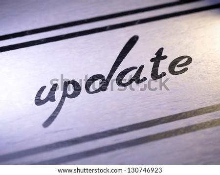 Update - stock photo