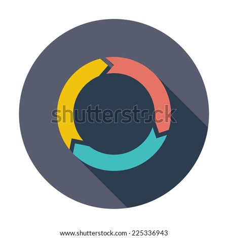 Update. Single flat color icon.  - stock photo