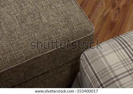 upholstery furniture detail - stock photo