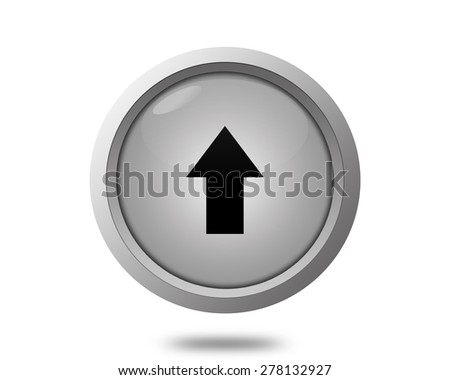 Upload icon - stock photo