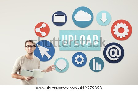 Upload Post Technology Word Graphic Concept - stock photo