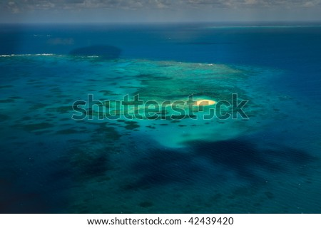 Upolu Cay in Great Barrier Reef Marine Park - stock photo