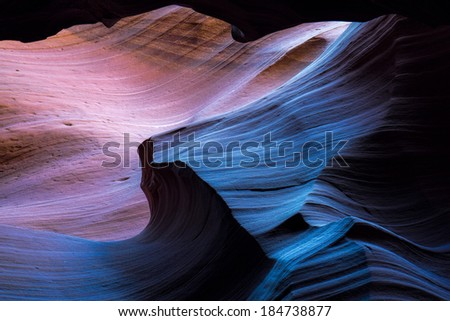 Upper Antelope Canyon - stock photo