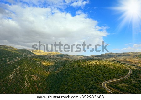 Upper Galilee mountains. North of Israel. - stock photo