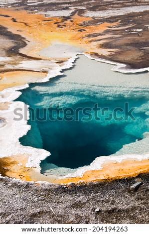 Upper Geyser basin, Yellowstone National park, USA - stock photo