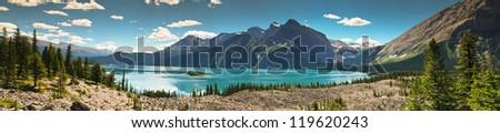 Upper Kananaskis Lakes area Peter Lougheed Provincial Park - stock photo
