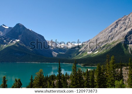 Upper Kananaskis Lakes area Peter Lougheed Provincial Park - stock photo