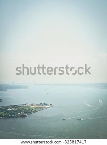 Upper New York Bay - stock photo