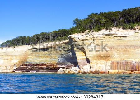 Upper Peninsula (Pictured Rocks) - Michigan, USA - stock photo