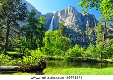 Upper Yosemite Falls, Yosemite National Park, California - stock photo