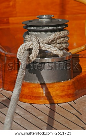 Upperworks of sailing boat - stock photo