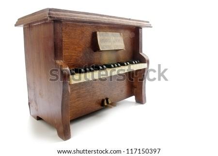 Upright piano isolated - stock photo
