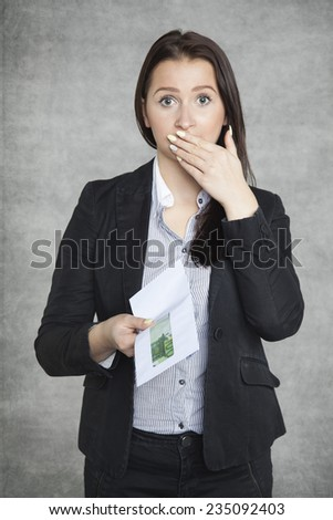 Ups it is a bribe - stock photo