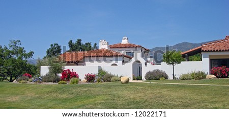 Upscale inn and spa in Southern California - stock photo