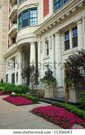Upscale Neighborhood in Downtown Chicago - stock photo