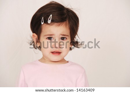 Upset toddler - stock photo