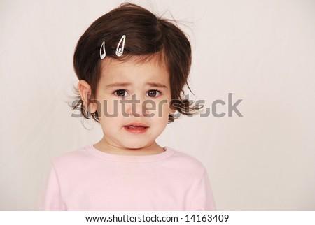 Upset toddler - stock photo