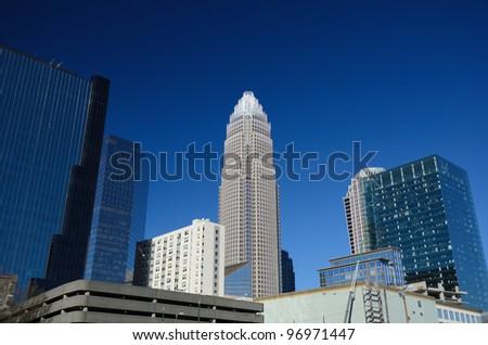 Uptown Skyline in Charlotte, North Carolina - stock photo