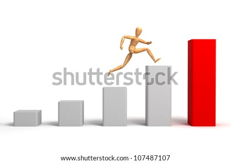 Uptrend (with clipping path) - stock photo